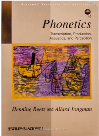 Phonetics Transcription Production Acoustics and Perception