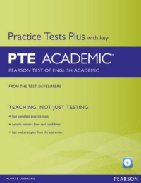 خرید کتاب Practice Tests Plus for PTE (Pearson Test of English) Academic Students Book with Key + CD